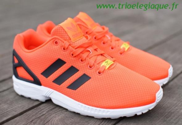 adidas zx flux orange fluo