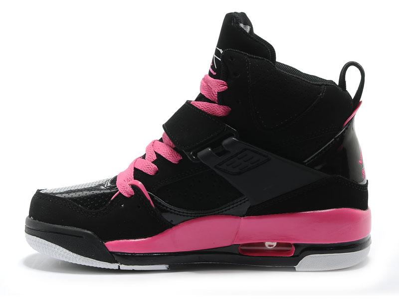 air jordan fille rose et noir
